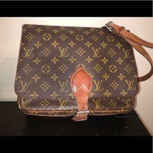 Vintage Louis Vuitton Cartouchiere Cross Body Bag